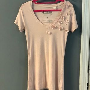 THREADS 4 THOUGHT light-pink organic tee, size S